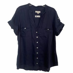 Malvin in 100% Linen Button Down Short Sleeves Shirt